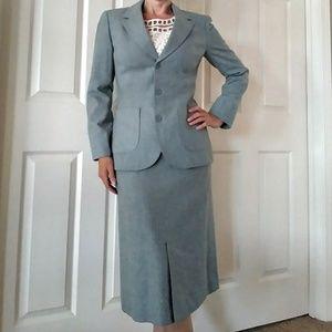 Vtg Pendleton Ingrid Bergman Skirt Suit 0